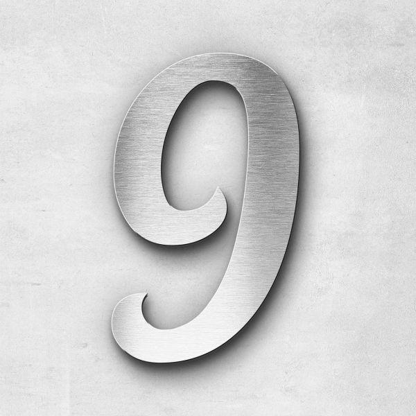 House Number 9 Stainless Steel Elegant Series
