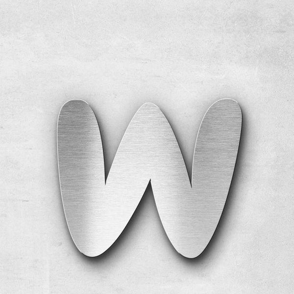Metal Letter w Lowercase - Darius Series
