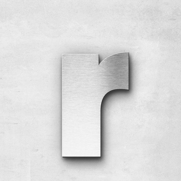 Metal Letter r Lowercase - Kontrast Series