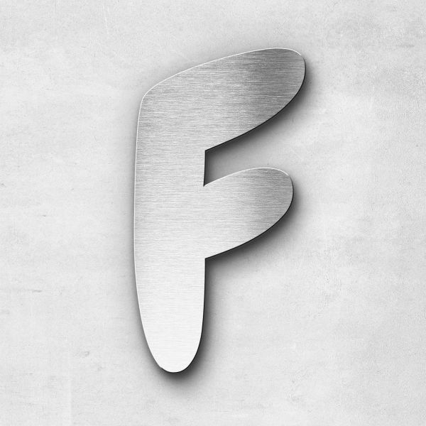 Metal Letter F Uppercase - Darius Series