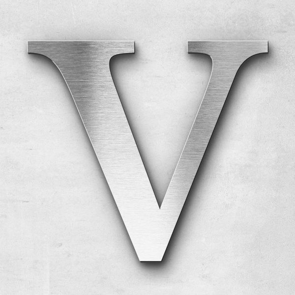 Metal Letter V Uppercase - Serif Series