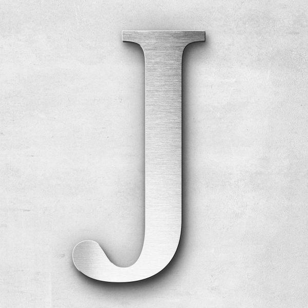Metal Letter J Uppercase - Serif Series
