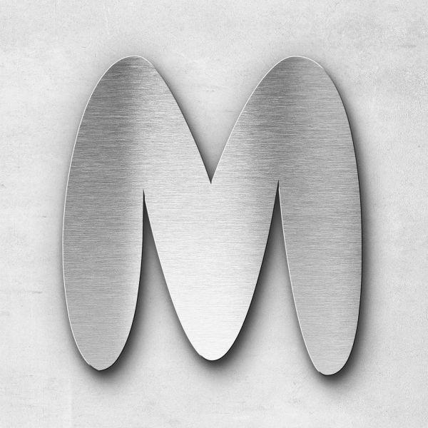 Metal Letter M Uppercase - Darius Series