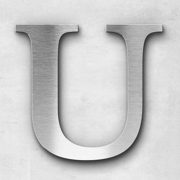 Metal Letter U Uppercase - Serif Series