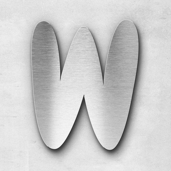 Metal Letter W Uppercase - Darius Series
