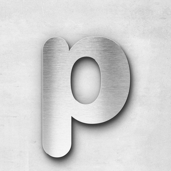 Metal Letter p Lowercase - Classic Series