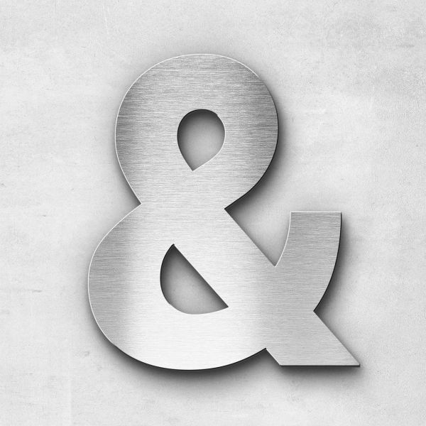 Metal Letter Ampersand Special Character - Sans Series