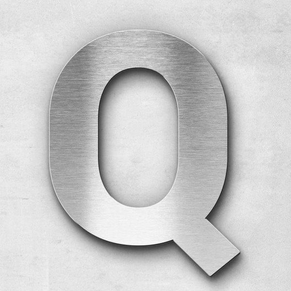 Metal Letter Q Uppercase - Sans Series