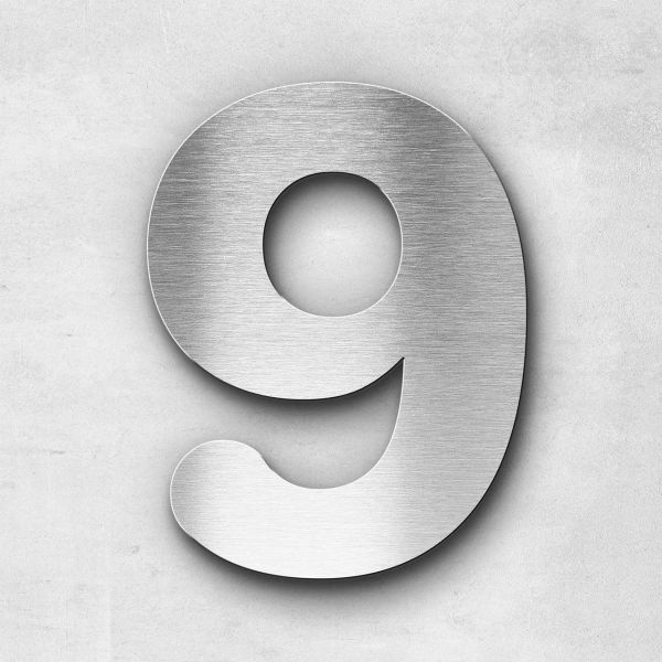 House Number 9 Stainless Steel Classic Series