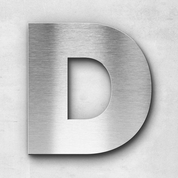 Metal Letter D Uppercase - Kontrast Series