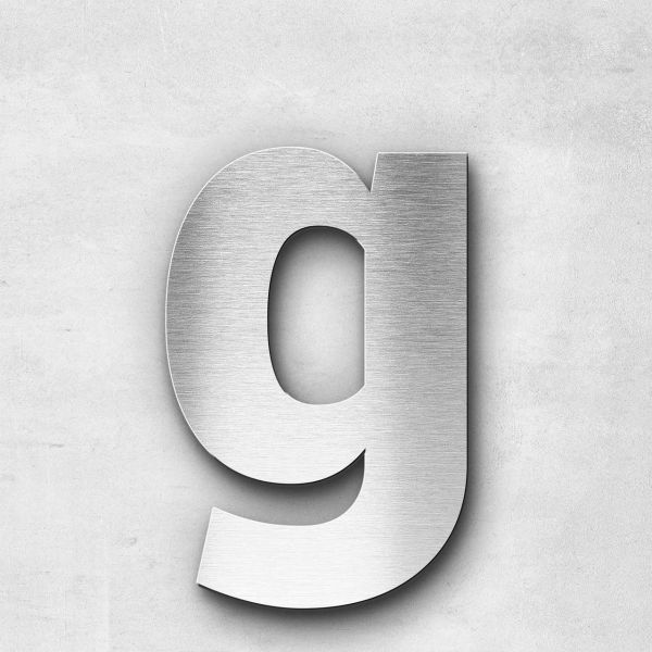 Metal Letter g Lowercase - Sans Series