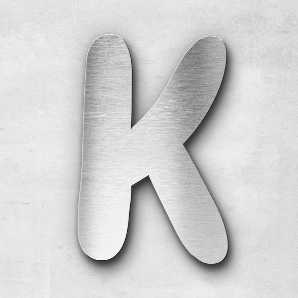 Metal Letter K Uppercase - Darius Series