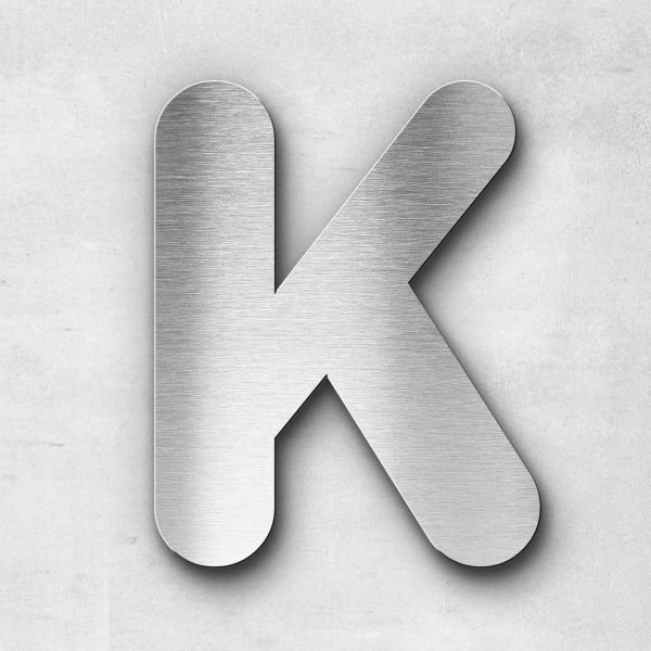 Metal Letter K Uppercase - Classic Series