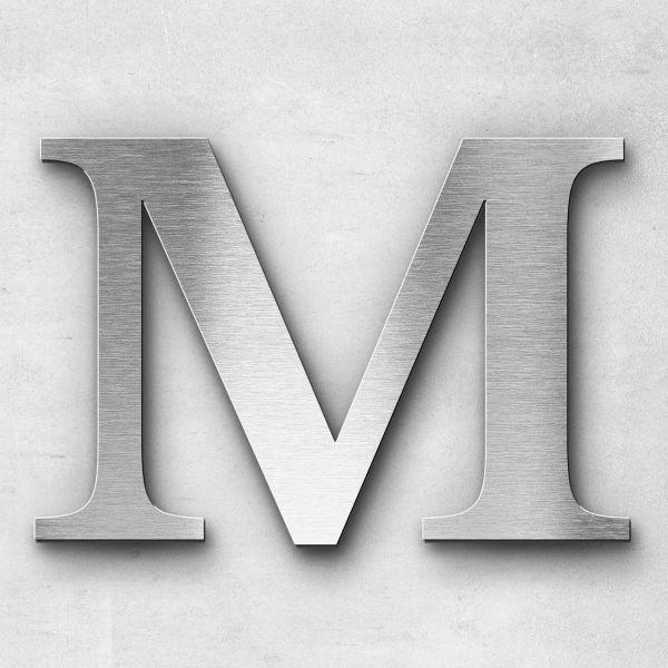 Metal Letter M Uppercase - Serif Series