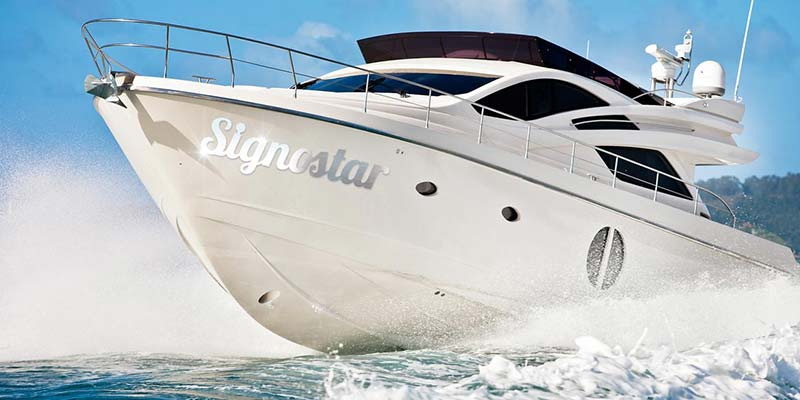 Signostar - lettering stainless steel boatnames
