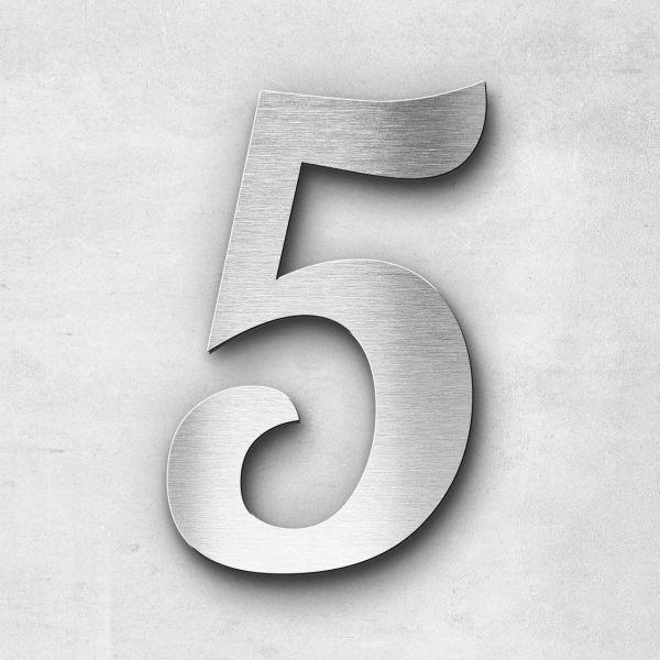 House Number 5 Stainless Steel Elegant Series