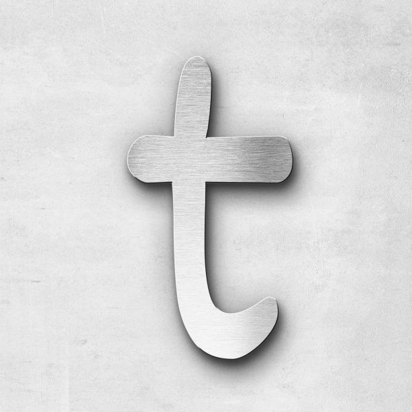 Metal Letter t Lowercase - Malta Series