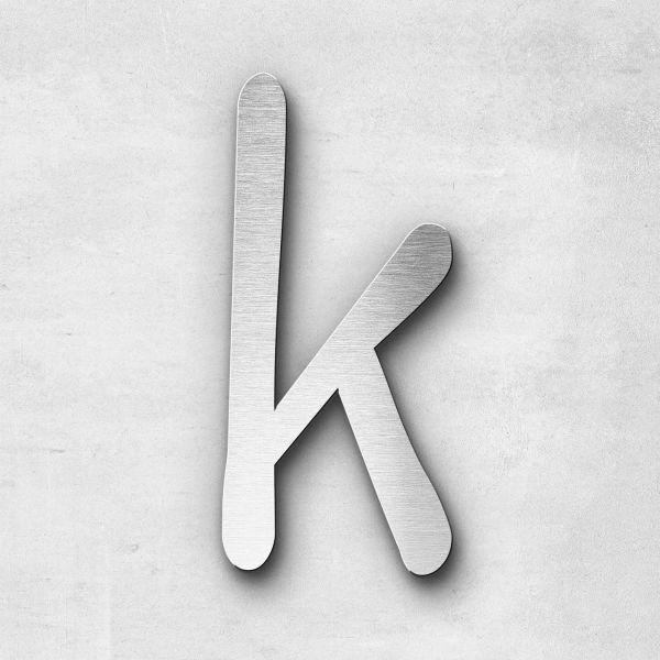Metal Letter k Lowercase - Malta Series