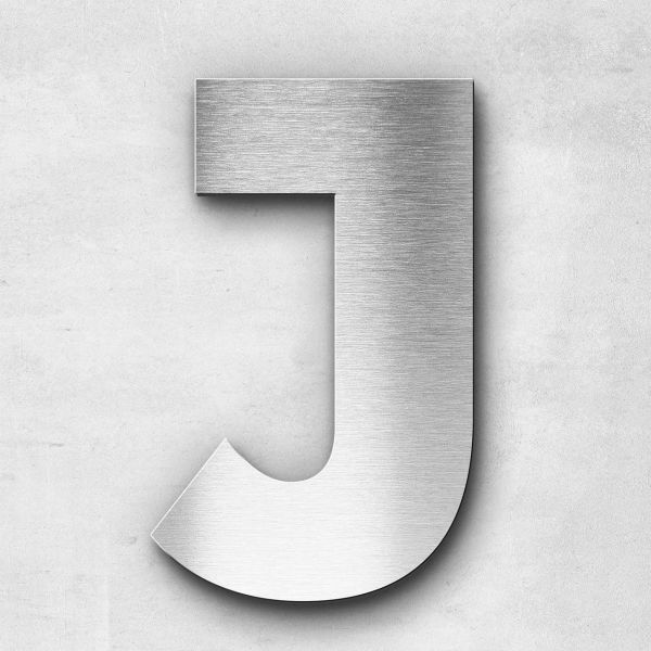 Metal Letter J Uppercase - Kontrast Series