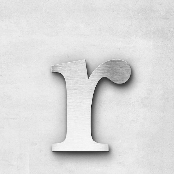 Metal Letter r Lowercase - Serif Series