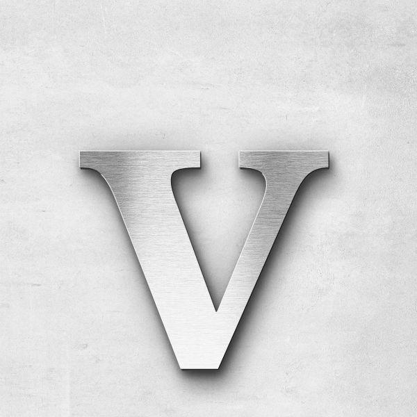 Metal Letter v Lowercase - Serif Series