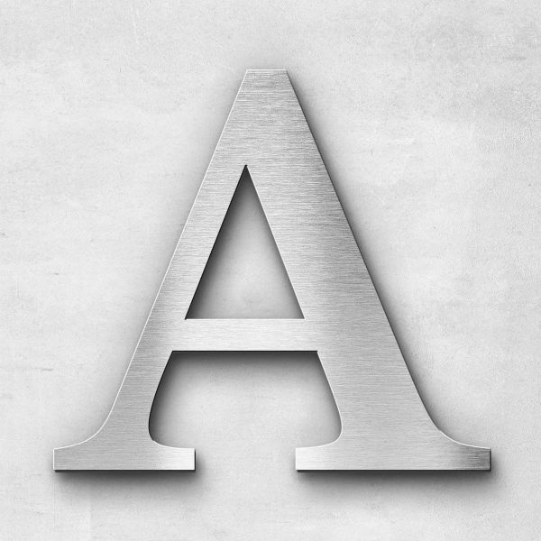 Metal Letter A Uppercase - Serif Series