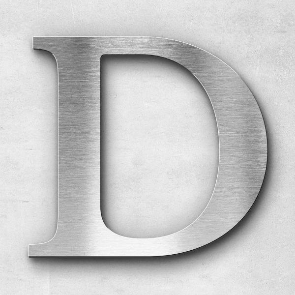 Metal Letter D Uppercase - Serif Series