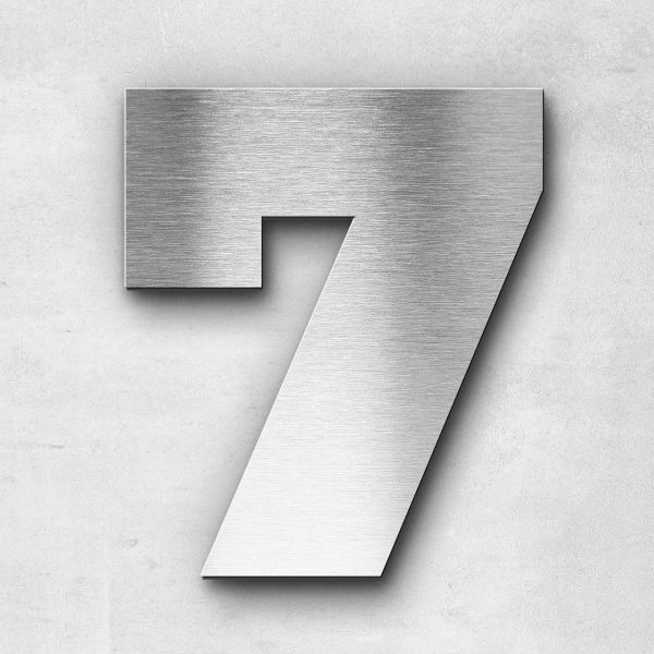 House Number 7 Stainless Steel Kontrast Series
