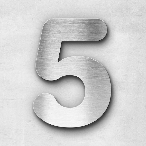House Number 5 Stainless Steel Classic Series