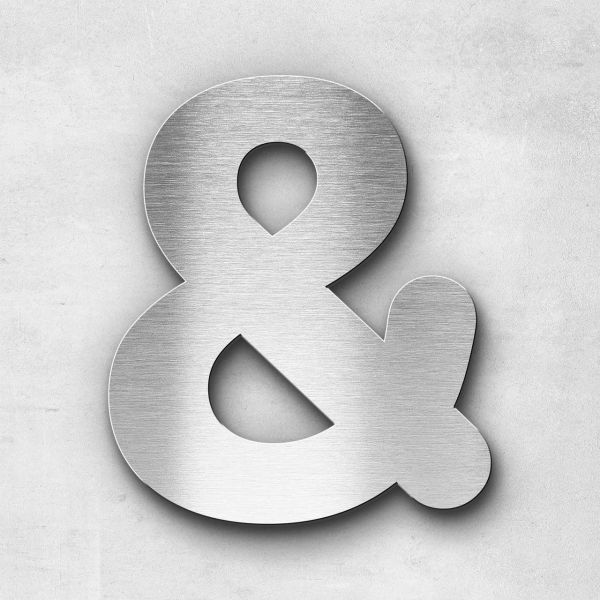Metal Letter Ampersand Special Character - Classic Series