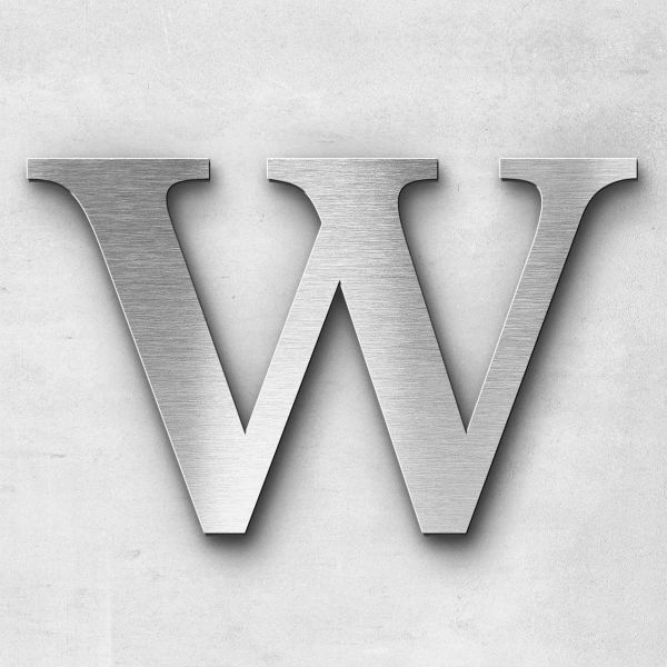 Metal Letter W Uppercase - Serif Series