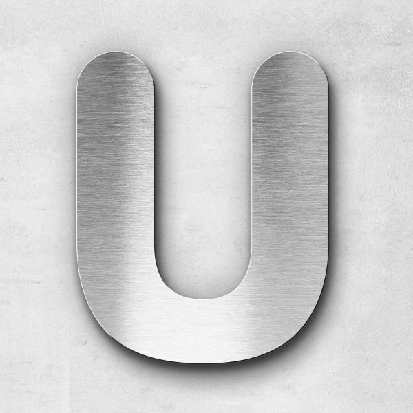 Metal Letter U Uppercase - Classic Series