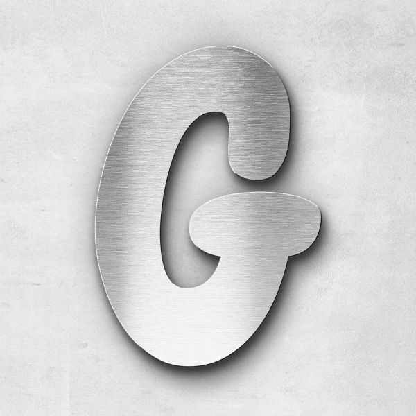 Metal Letter G Uppercase - Darius Series