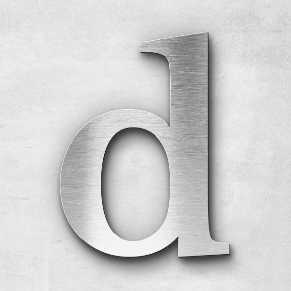Metal Letter d Lowercase - Serif Series