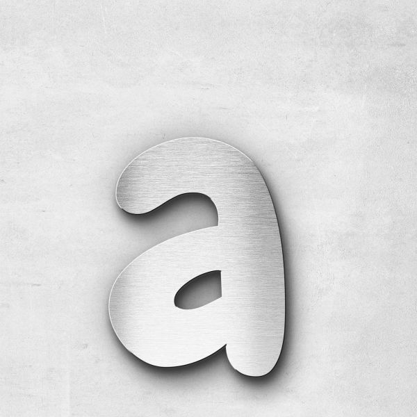 Metal Letter a Lowercase - Darius Series