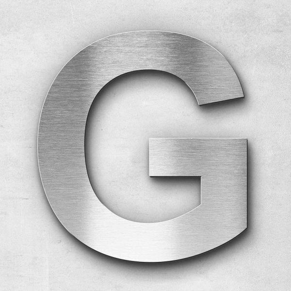 Metal letter G - Series Arial