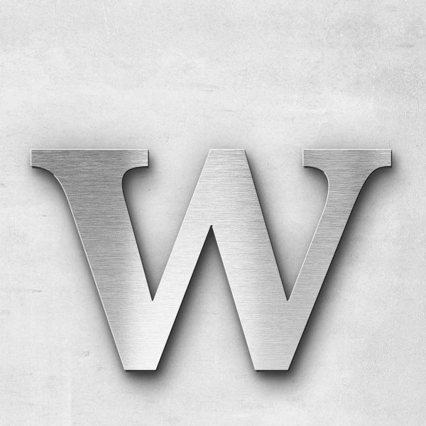 Metal Letter w Lowercase - Serif Series