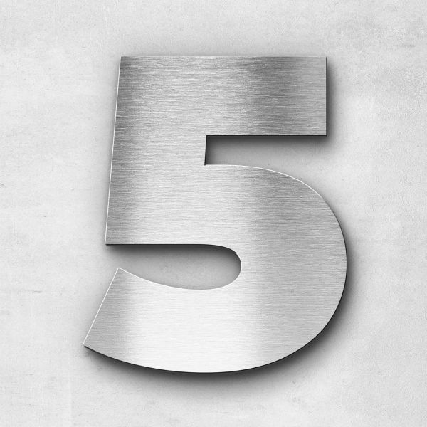 House Number 5 Stainless Steel Kontrast Series