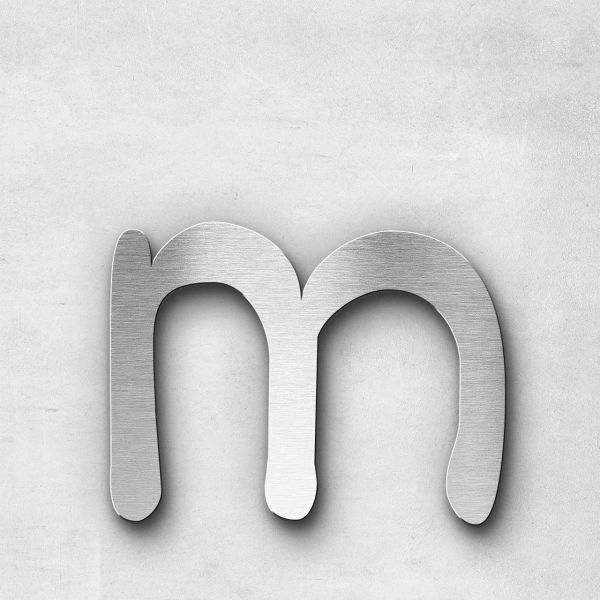 Metal Letter m Lowercase - Malta Series