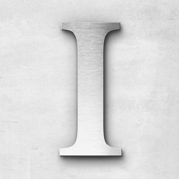 Metal Letter I Uppercase - Serif Series