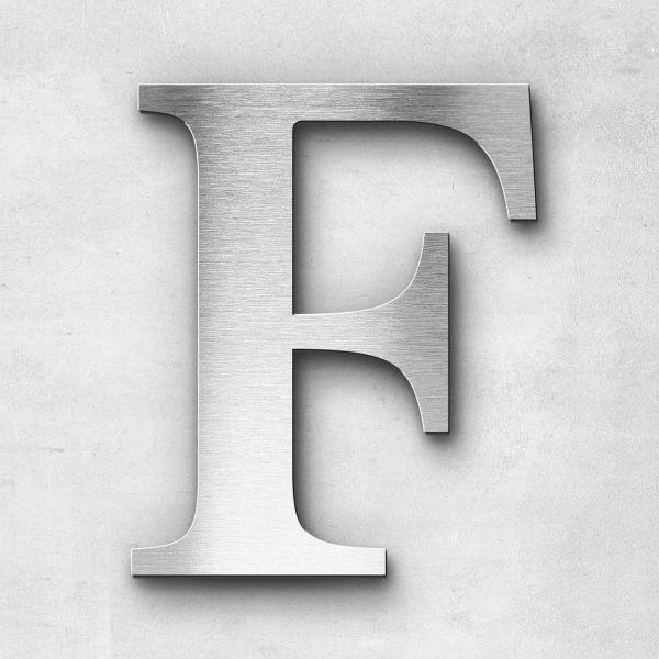 Metal Letter F Uppercase - Serif Series
