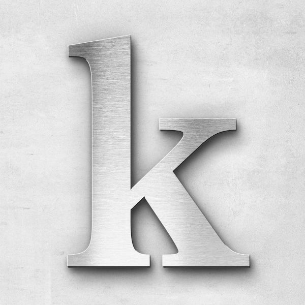 Metal Letter k Lowercase - Serif Series