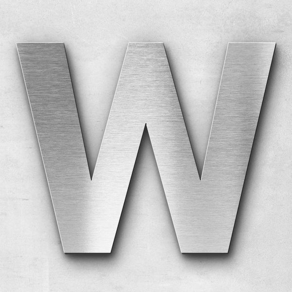 Metal Letter W Uppercase - Sans Series
