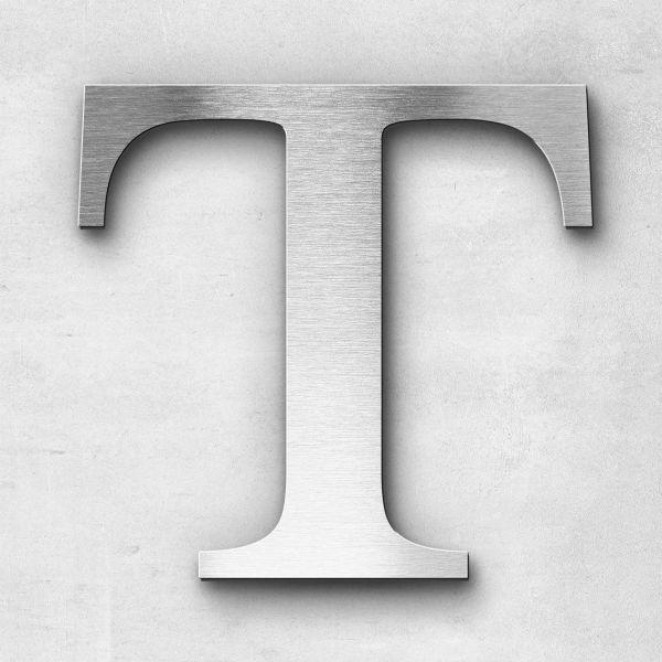 Metal Letter T Uppercase - Serif Series