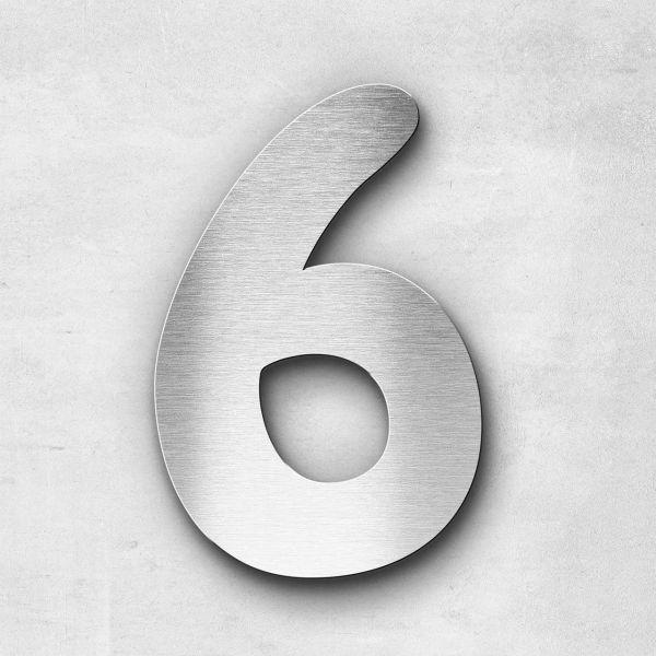 House Number 6 Stainless Steel Darius Series