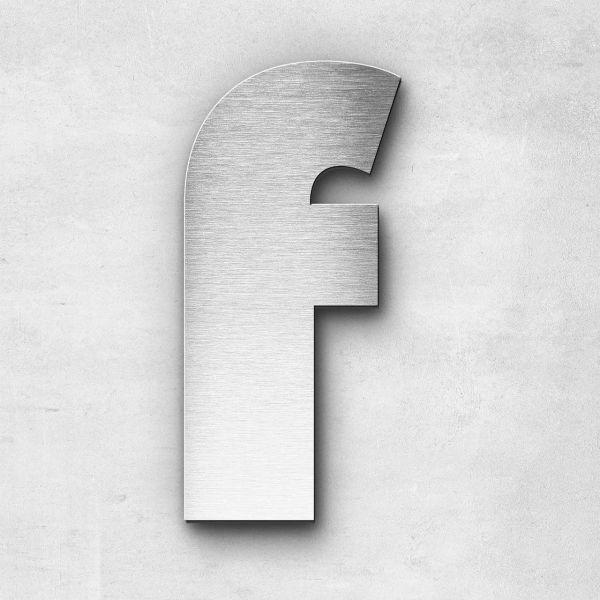 Metal Letter f Lowercase - Kontrast Series