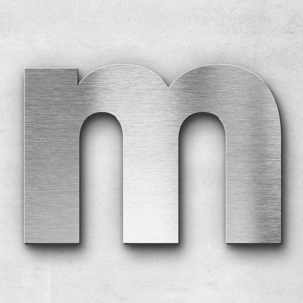 Metal Letter M Uppercase - Kontrast Series