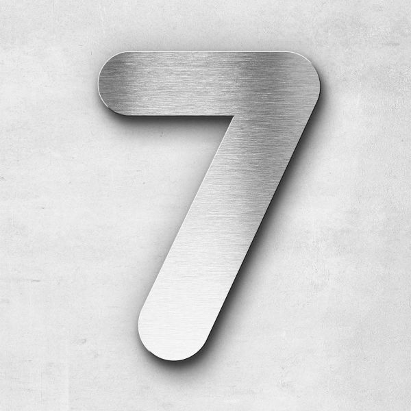 House Number 7 Stainless Steel Classic Series