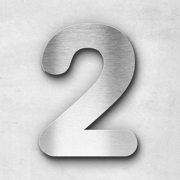 House Number 2 Stainless Steel Classic Series