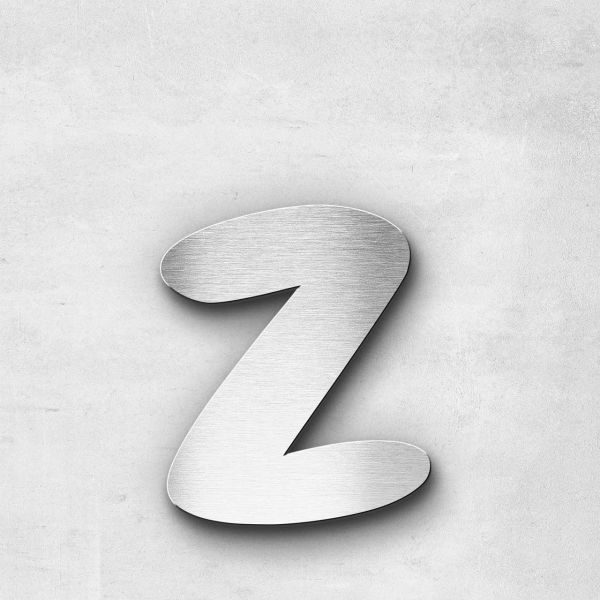 Metal Letter z Lowercase - Darius Series
